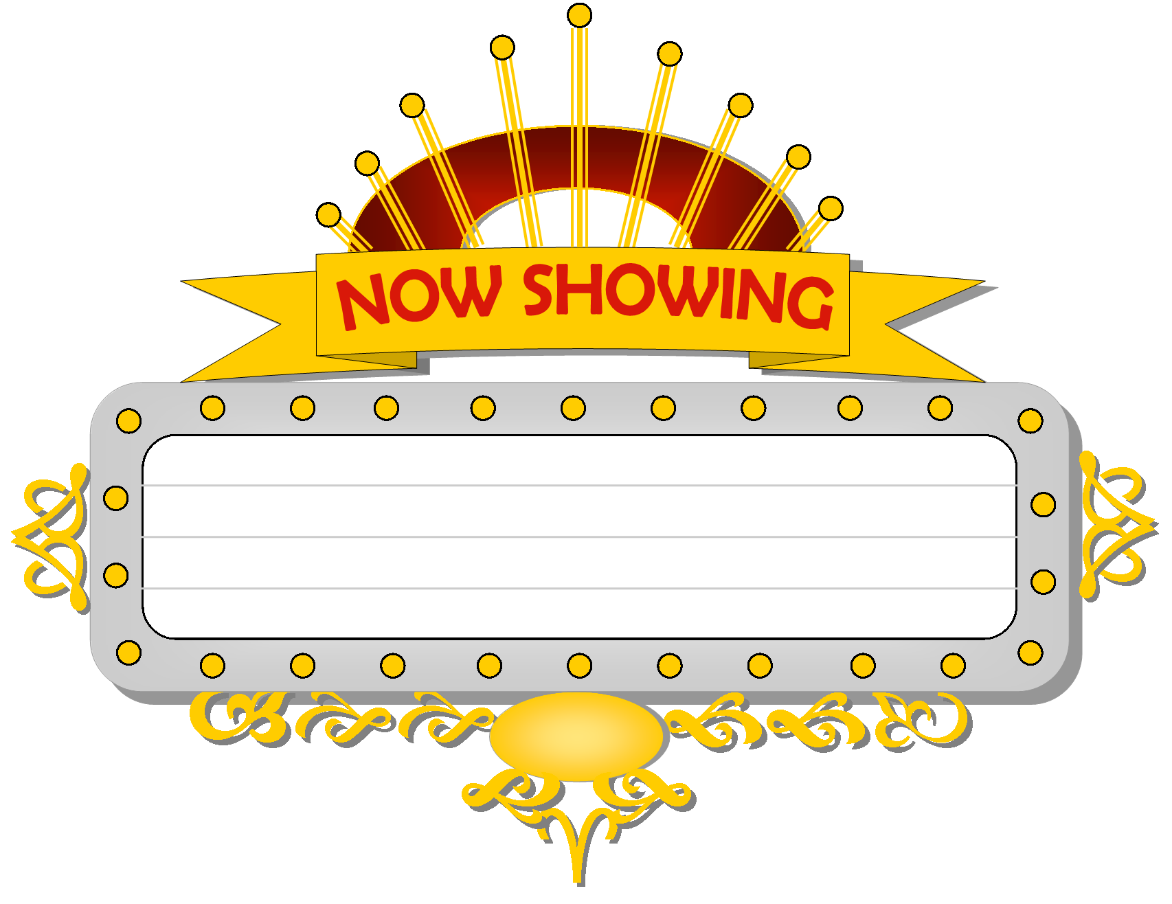 svg black and white Marquee hr free images. Arcade clipart broadway ticket.