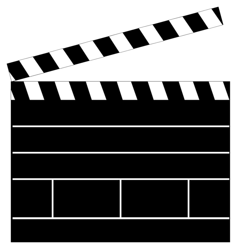 png transparent library Movie clapboard template blank. Board clipart transparent.
