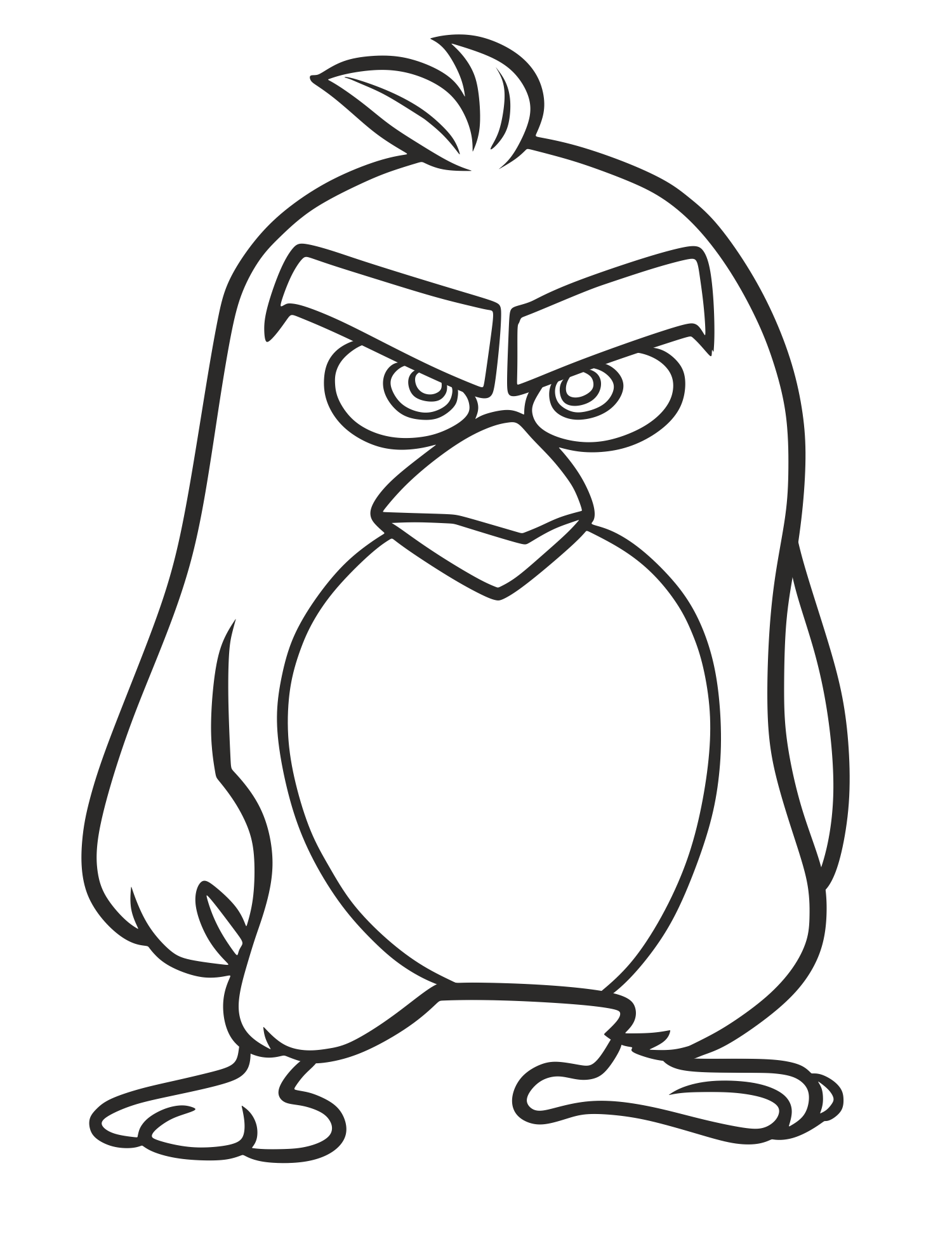 graphic free stock Drawing necks pencil. Angry birds go youtube