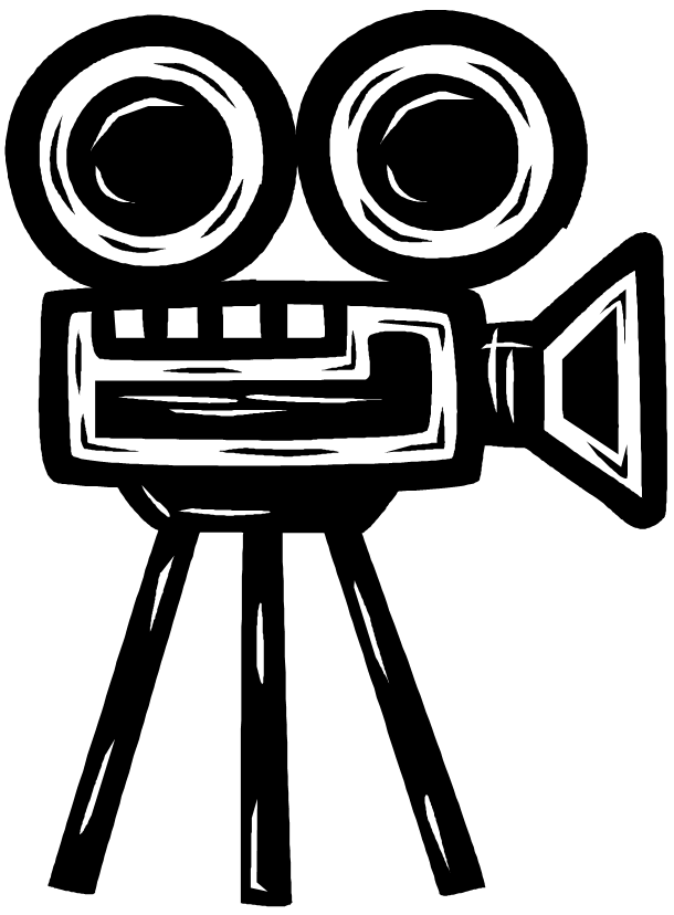 picture transparent library Movie Camera Drawing at GetDrawings