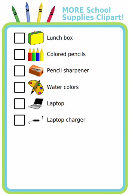 png Finding clipart checklist. More school supplies the