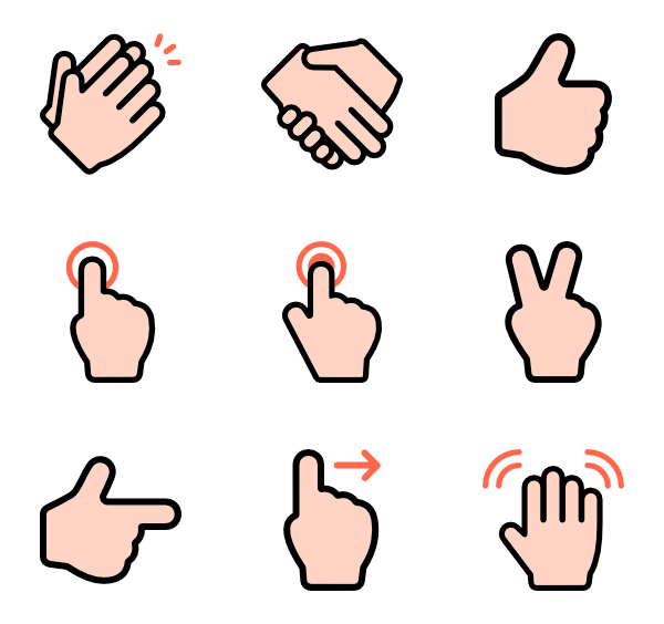 clip free Yes clipart hand. Finger icons free vector