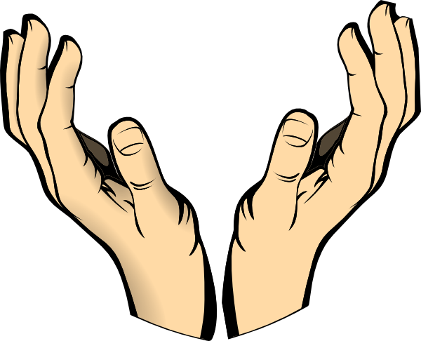 clipart royalty free stock Computer in hands clip. Open hand clipart black and white