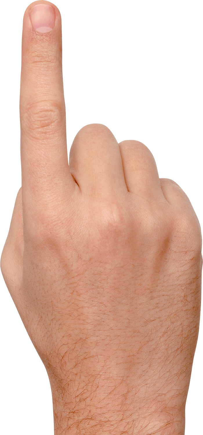 image freeuse Finger transparent. Large pointing png stickpng