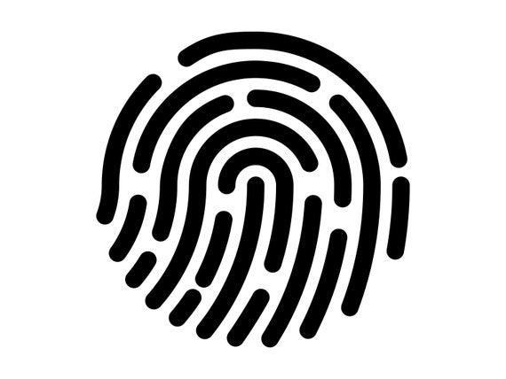 clip art freeuse library Svg finger print detective. Fingerprint clipart.
