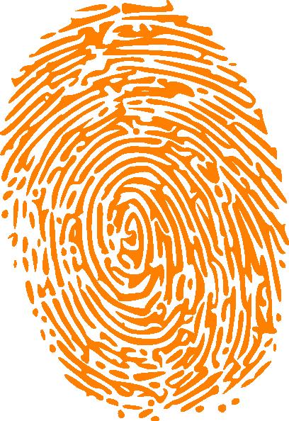 svg transparent download Orange clip art at. Fingerprint clipart.