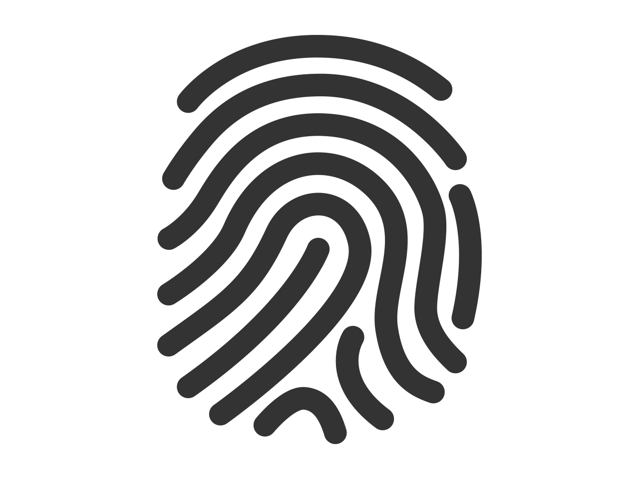 png black and white stock fingerprint