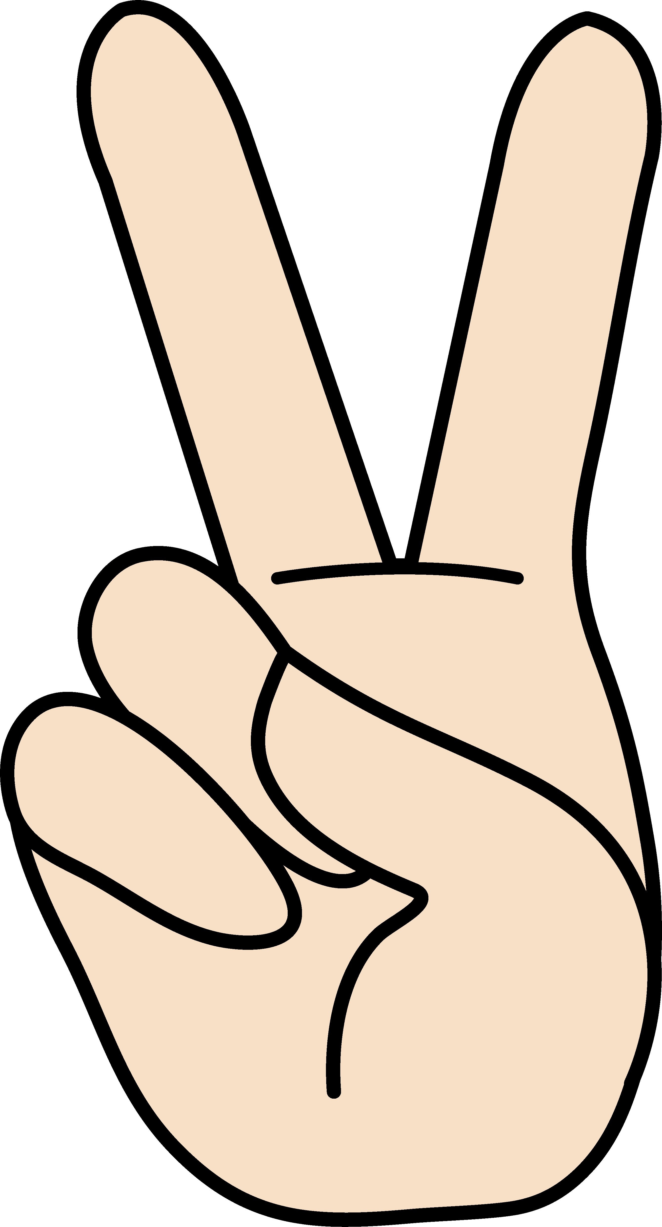 black and white Peace clipart. Free fingers download clip