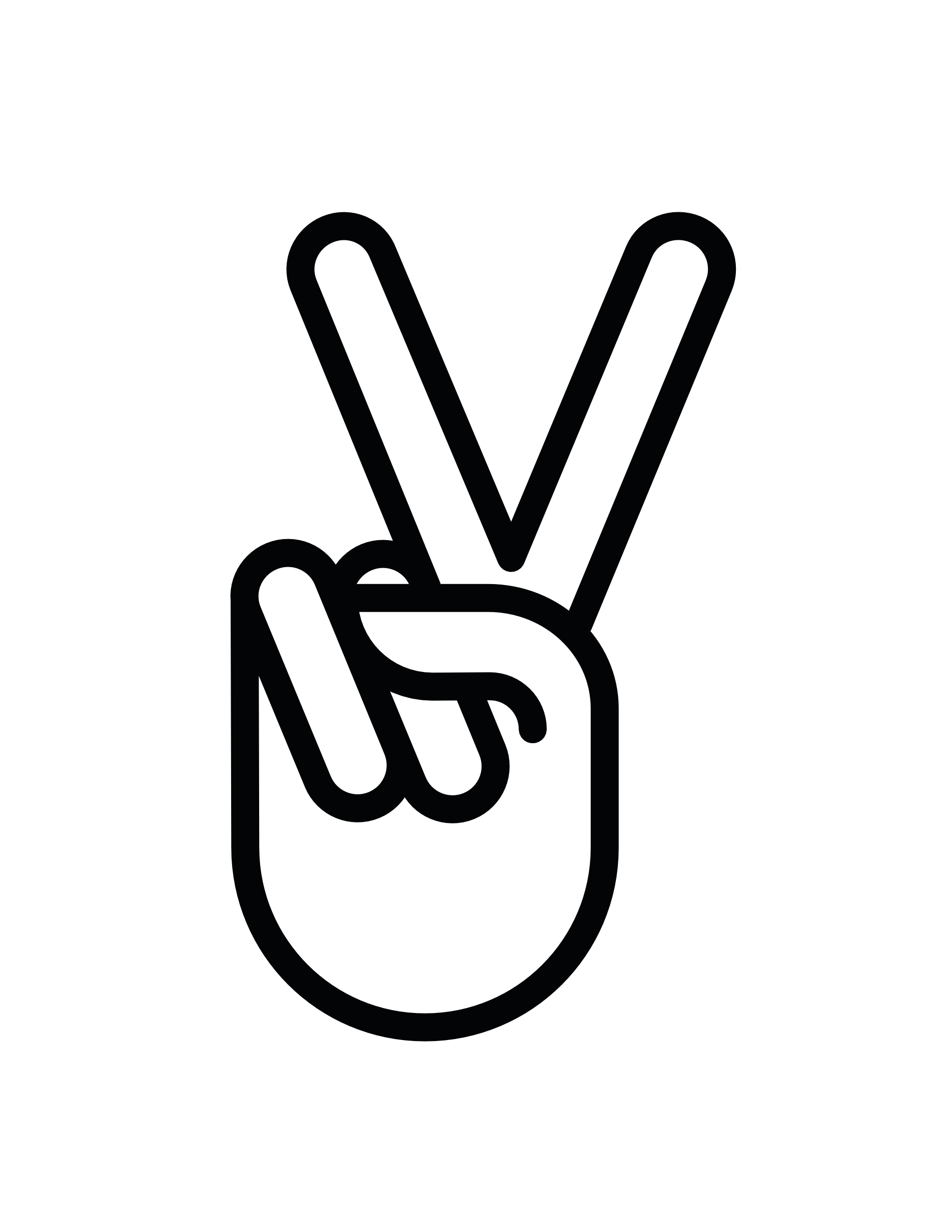 svg black and white Hand peace sign fav. Protest drawing peaceful