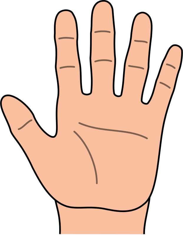 svg black and white 3 fingers clipart #55005636