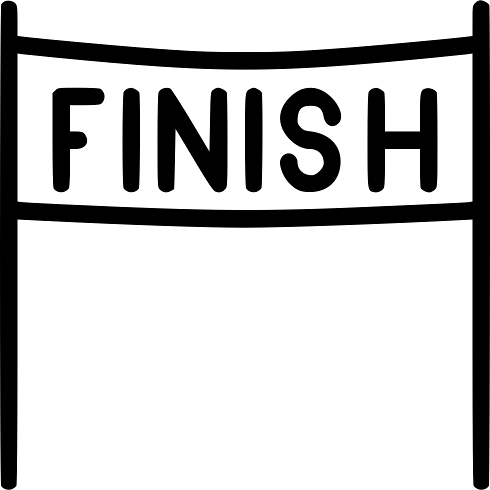 image royalty free Finish clipart. Line end race free.