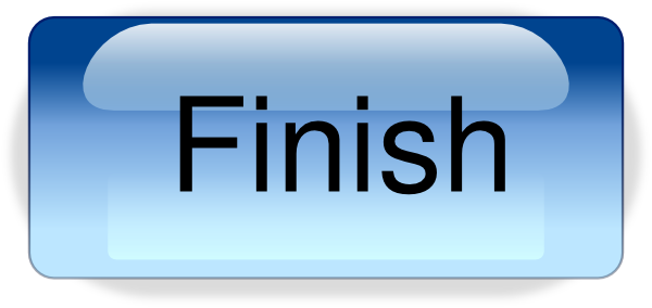 vector library stock Finish button png clip. Yes clipart finished