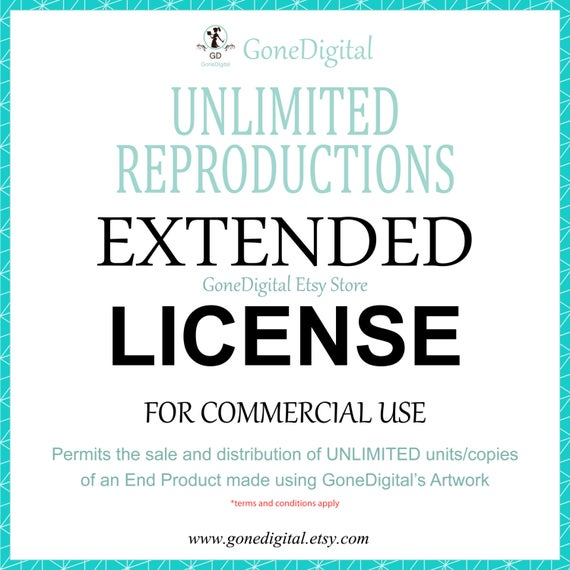 clipart stock Unlimited reproductions extended license. Finish clipart scope limitation