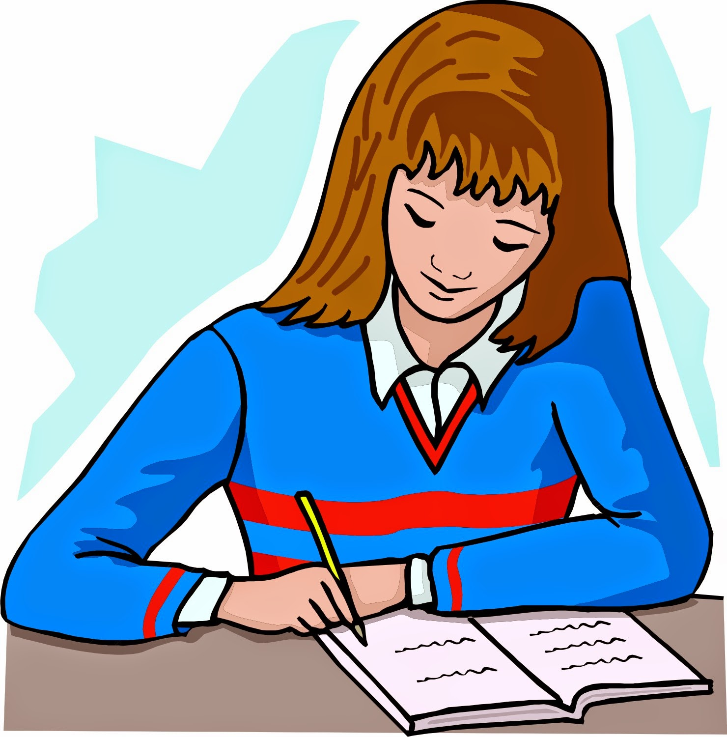 png free Writer clipart teacher. Free student reflection cliparts