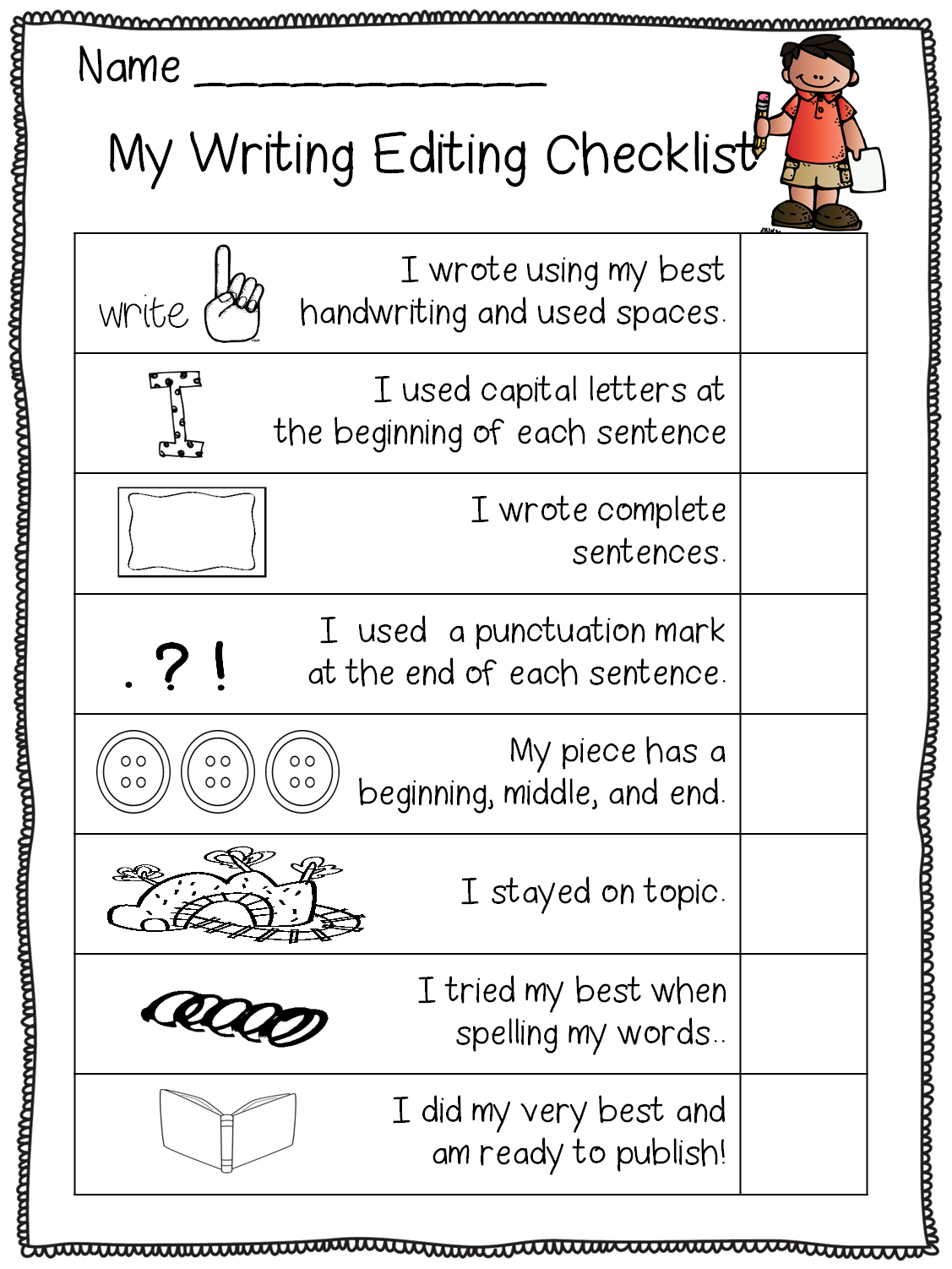 graphic black and white stock This is part of. Writer clipart kindergarten writing.