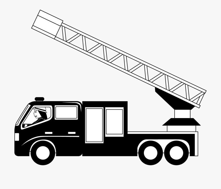 jpg library stock Truck clip art free. Fire ladder clipart