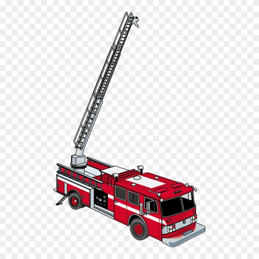 clipart freeuse Clip art cartoon png. Fire truck ladder clipart
