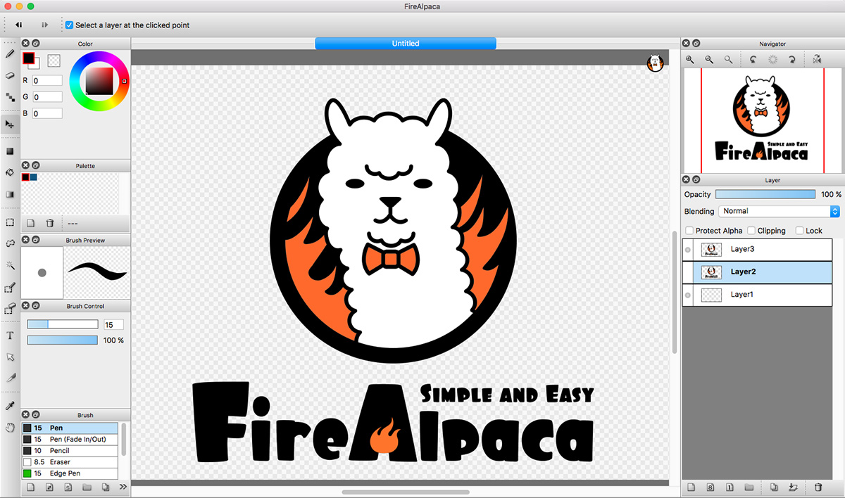 clip library Firealpaca vector. Free digital painting software