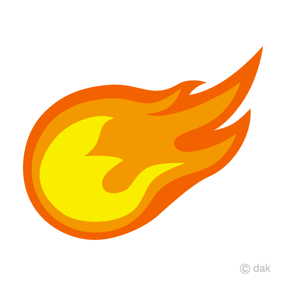 vector library Free picture illustoon . Fireball clipart.