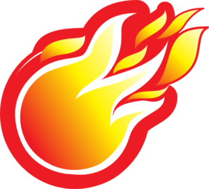 svg freeuse stock Clip art at clker. Fireball clipart.