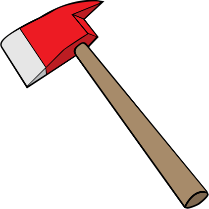 clip art transparent Firefighter clipart axe