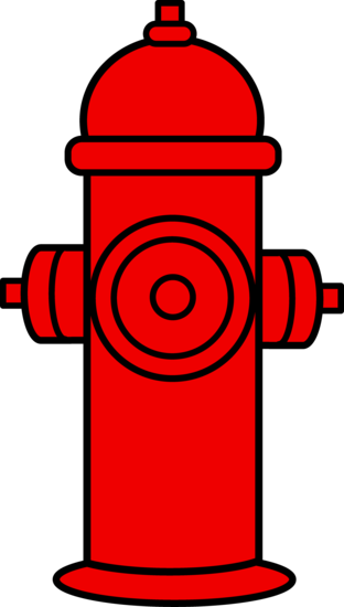 banner black and white library Red Fire Hydrant Clipart