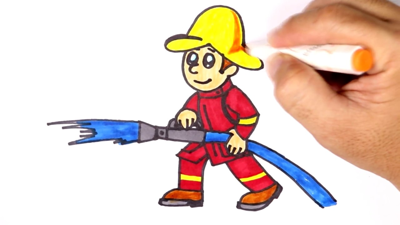 clipart freeuse download Fireman drawing. How to draw a
