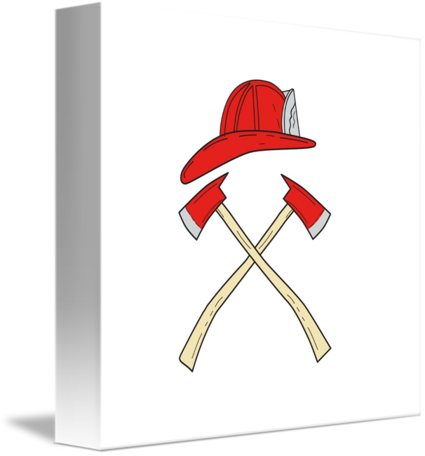 svg free download Helmet crossed fire axe. Fireman drawing