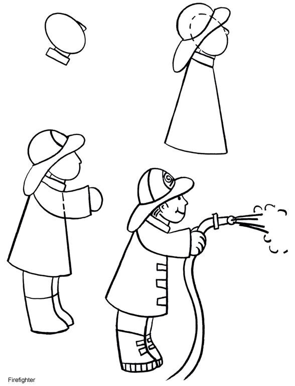 clip library download How to draw a. Fireman drawing