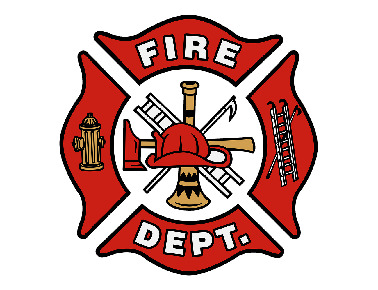 png black and white stock  firefighter png for. Vector crest fire department