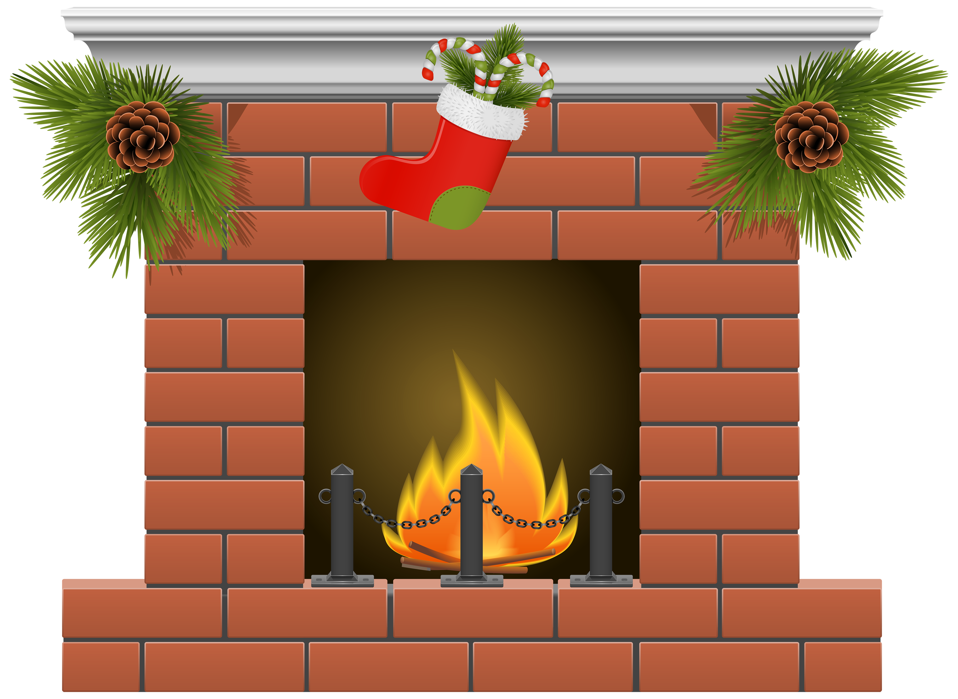 royalty free stock Fireplace clipart. Christmas png best web