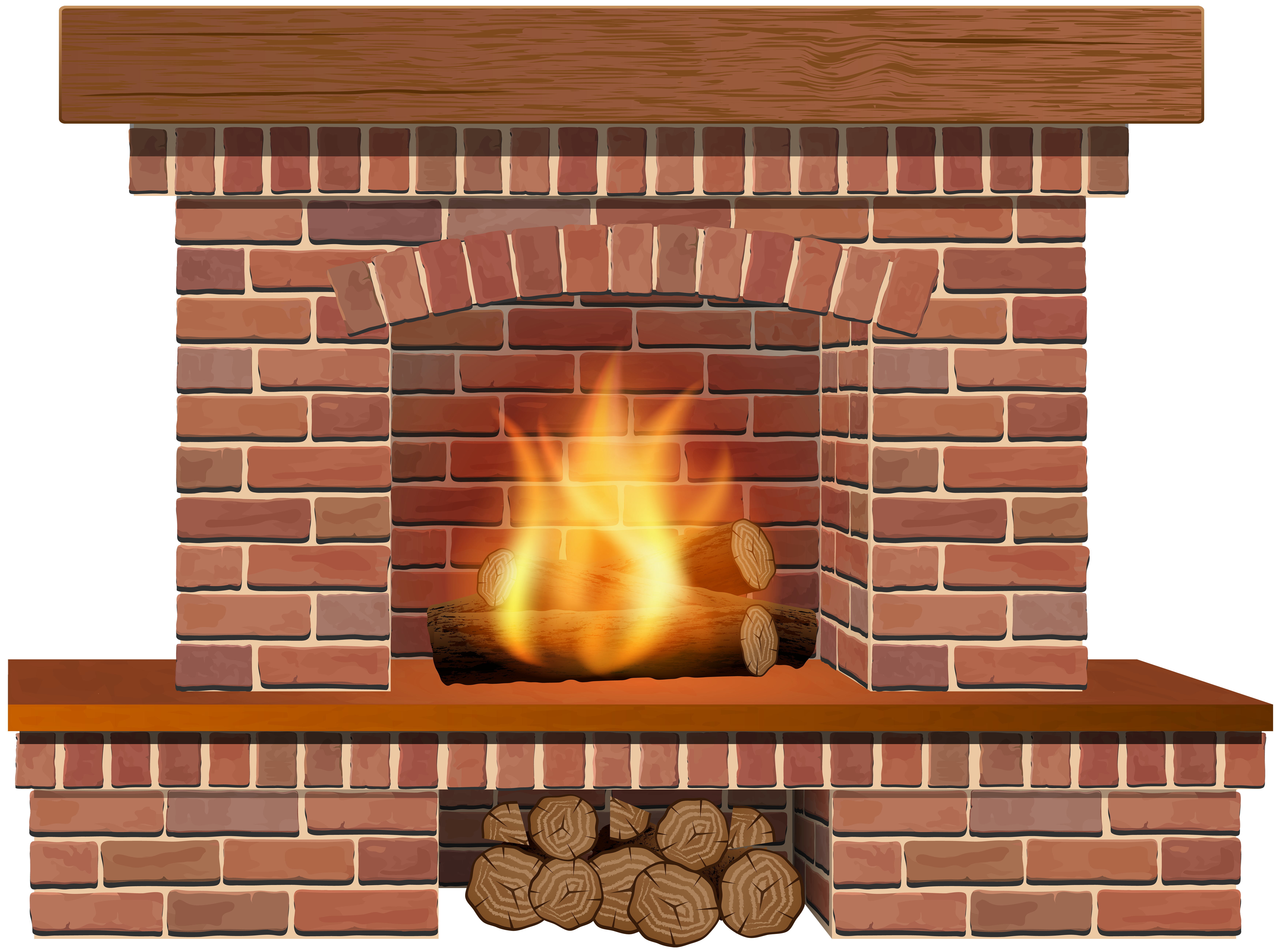 picture transparent download Fireplace clipart. Christmas png clip art