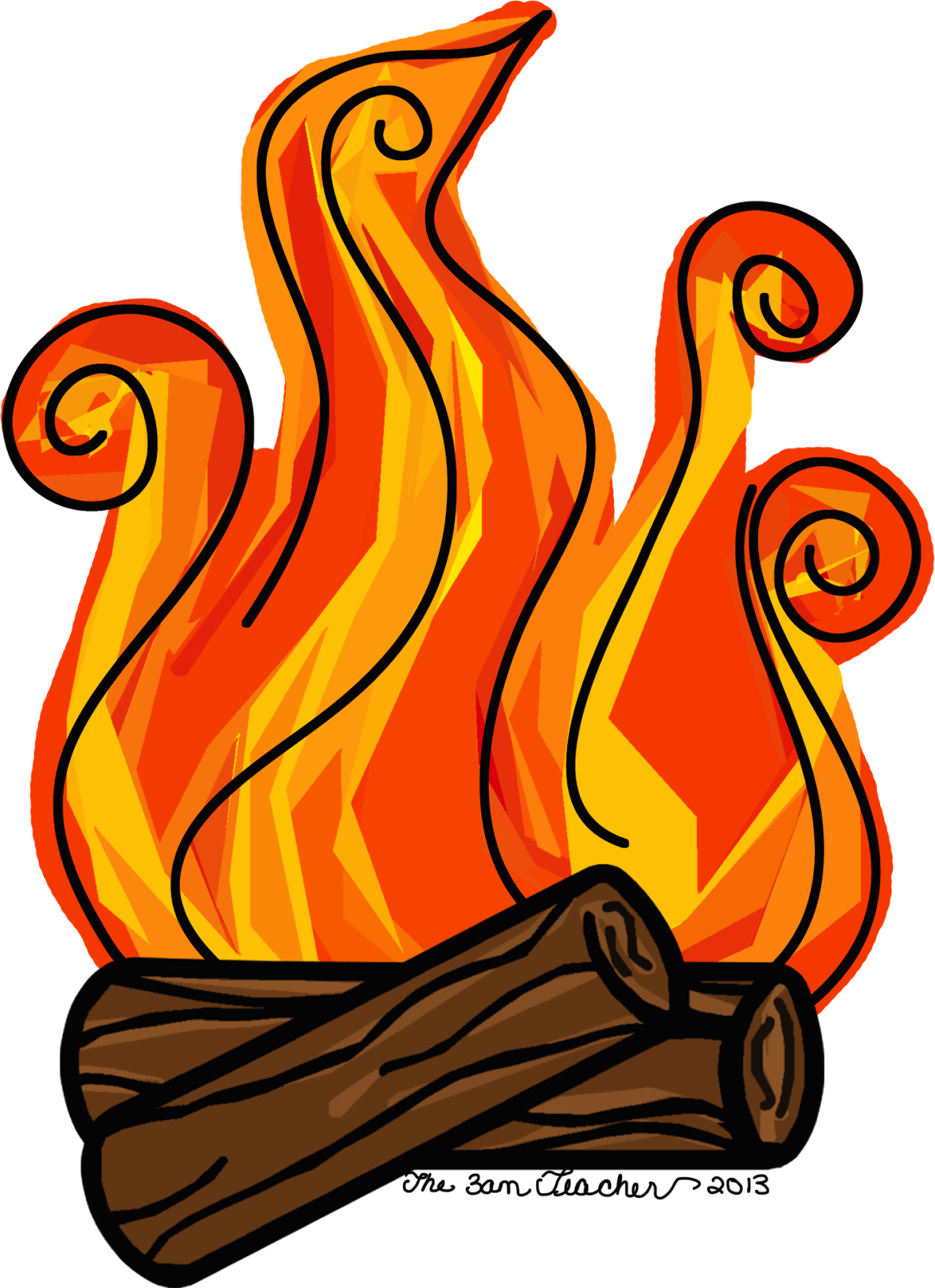 clipart transparent Fireplace clipart. Logs and fire free