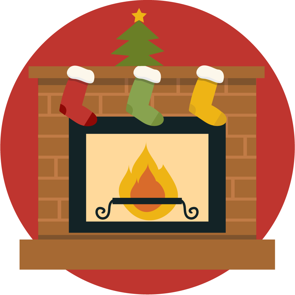 image library download Free cute christmas clip. Fireplace clipart.