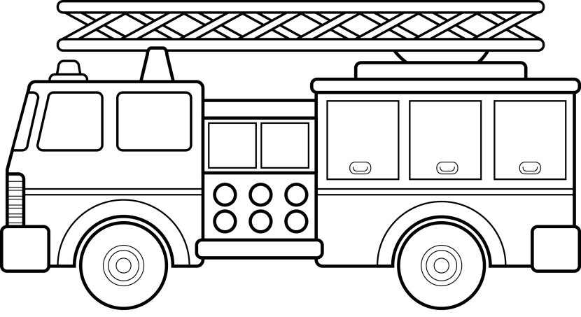 clip black and white library Firetruck clipart printable. Free fire truck cliparts.
