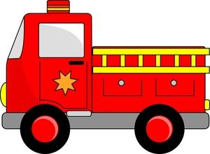 graphic Firetruck clipart printable. Fire engine image cartoon.
