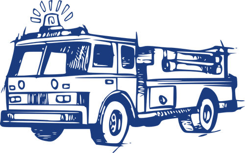 clipart library Firetruck drawing. Fire brigade vehicle in