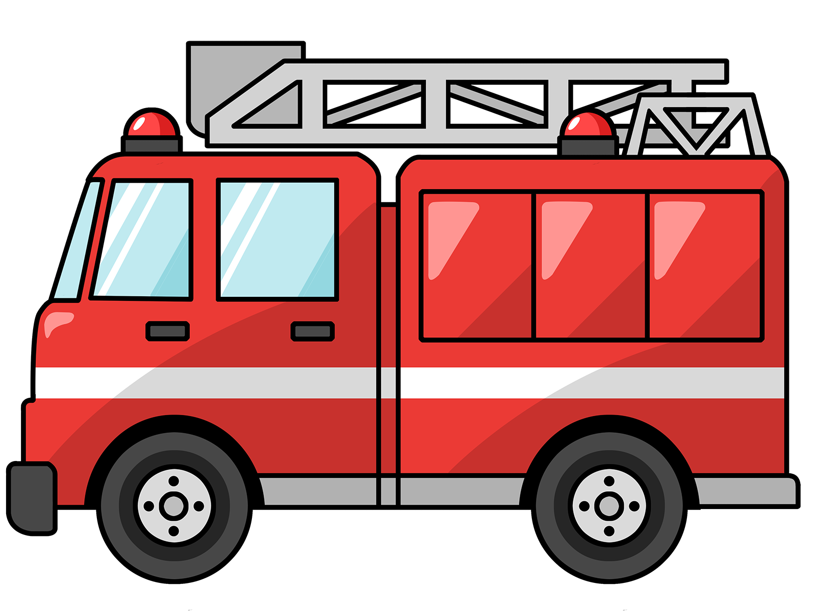picture transparent fire truck clipart