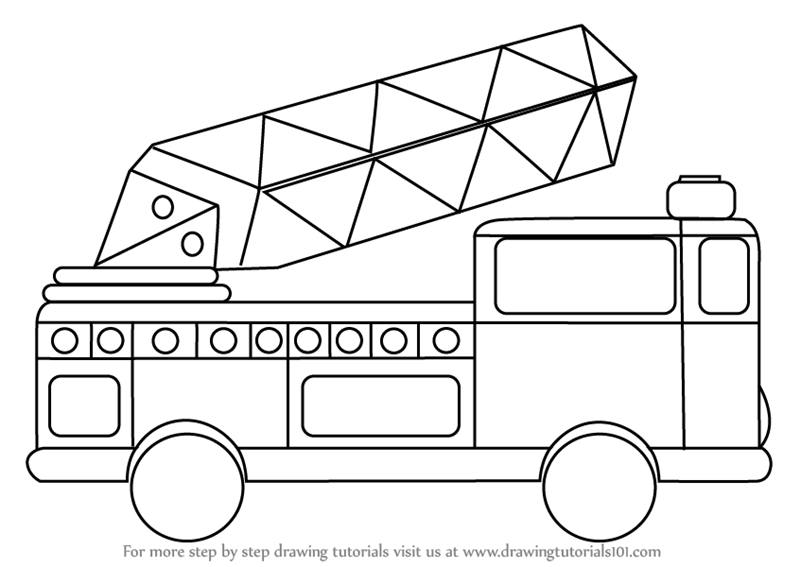 image royalty free Firetruck drawing. Learn how to draw
