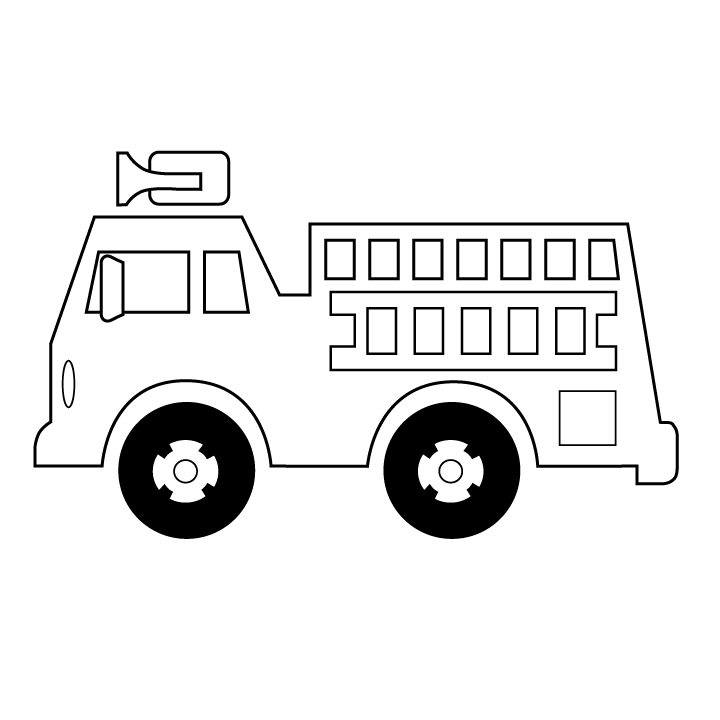 clip art library download Transportation printable coloring pages. Firetruck drawing