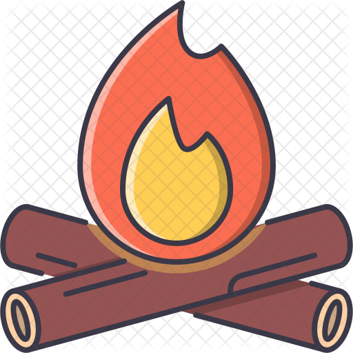 image royalty free library Log clipart red. Campfire icon travel hotel.