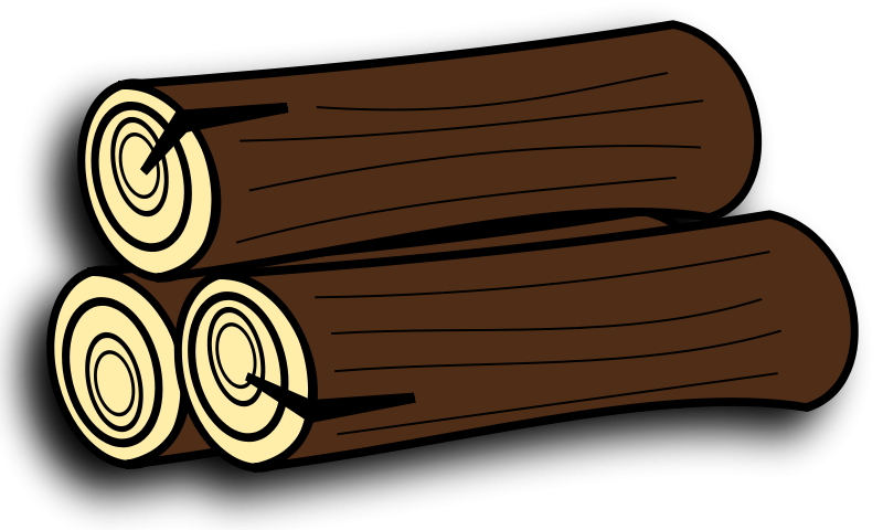 graphic stock Logs clipart single wood log