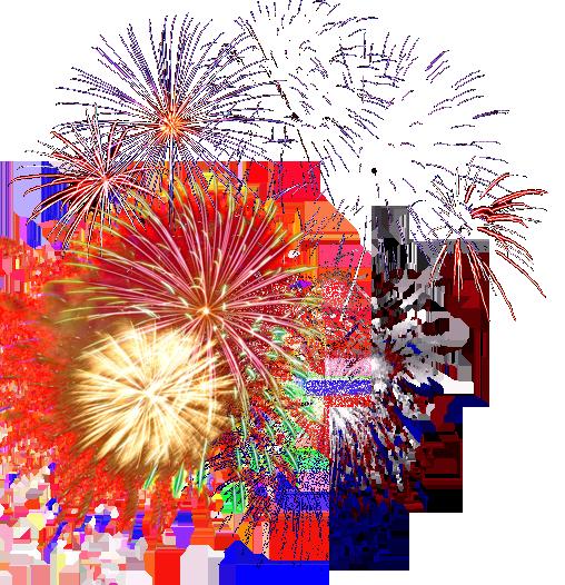 banner free stock Fireworks Transparent Background