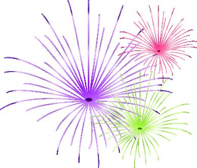clip art transparent Fireworks Background Clipart