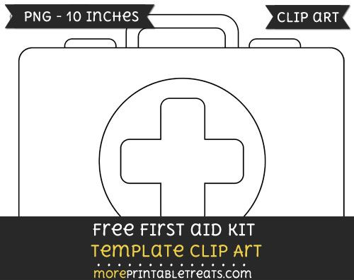 graphic library stock Free kit template files. First aid clipart classroom.