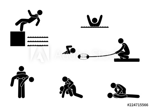 picture freeuse download First aid clipart stick figure. Man saves a drowning