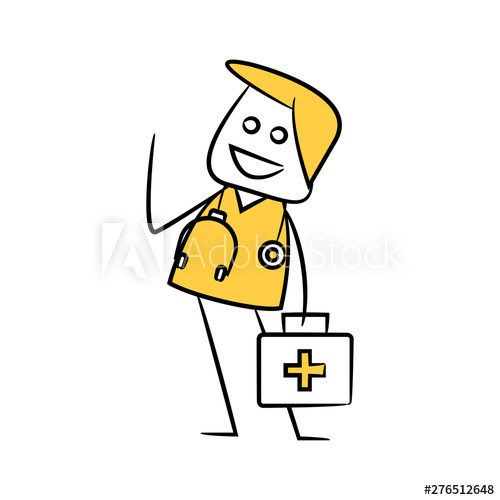 graphic black and white download First aid clipart stick figure. Doctor and kit yellow