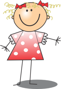 clip art transparent Girl wearing polka dot. First aid clipart stick figure