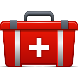 transparent Emergency clipart shock. First aid kit icon.