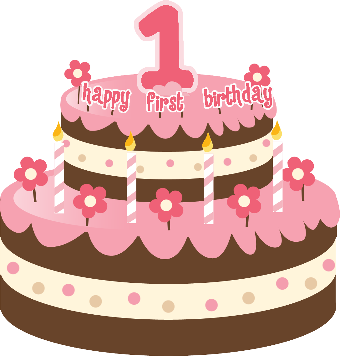 image freeuse download Free first cliparts download. 1 vector happy 1st birthday